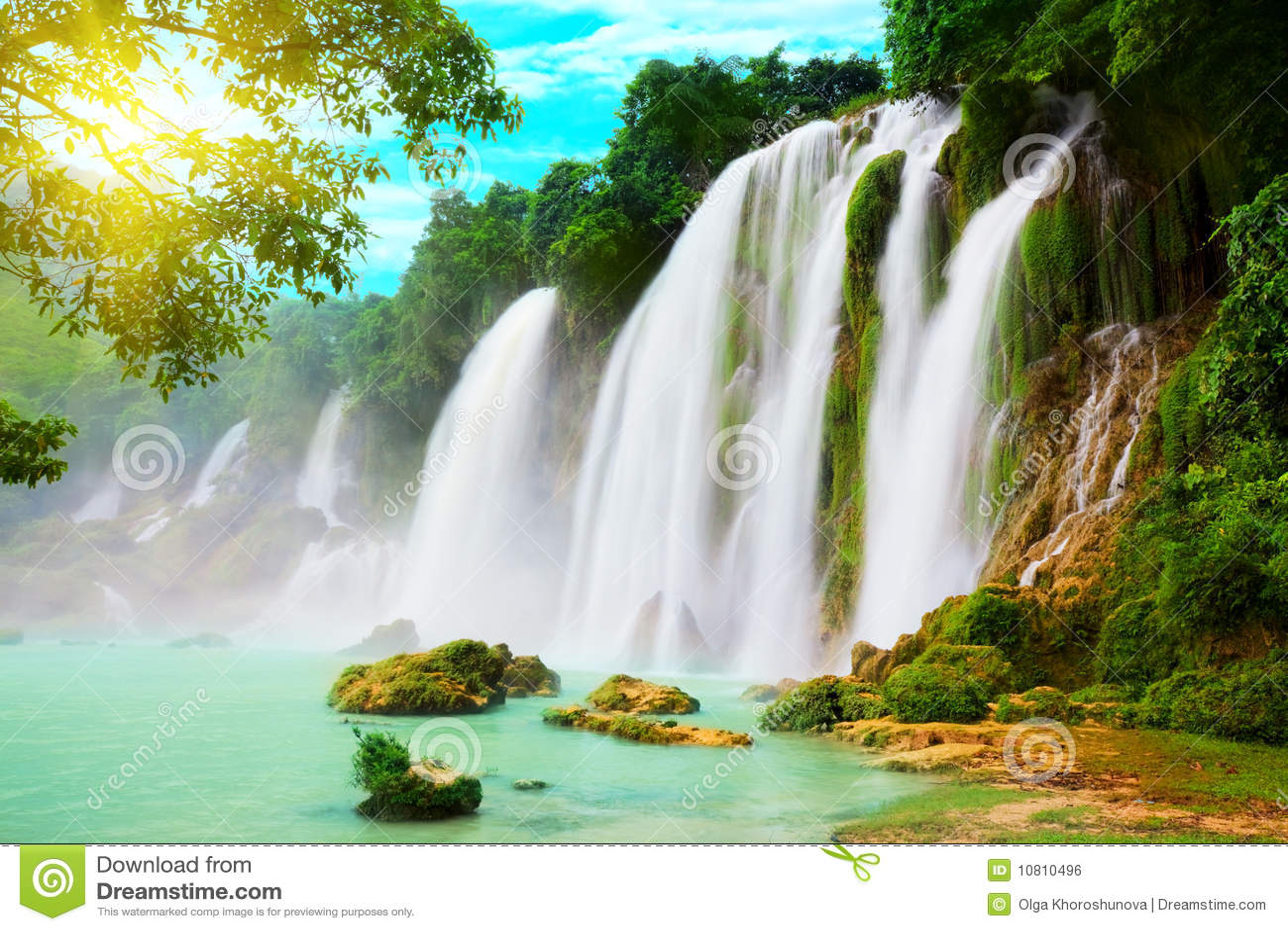 Cascada de Detian