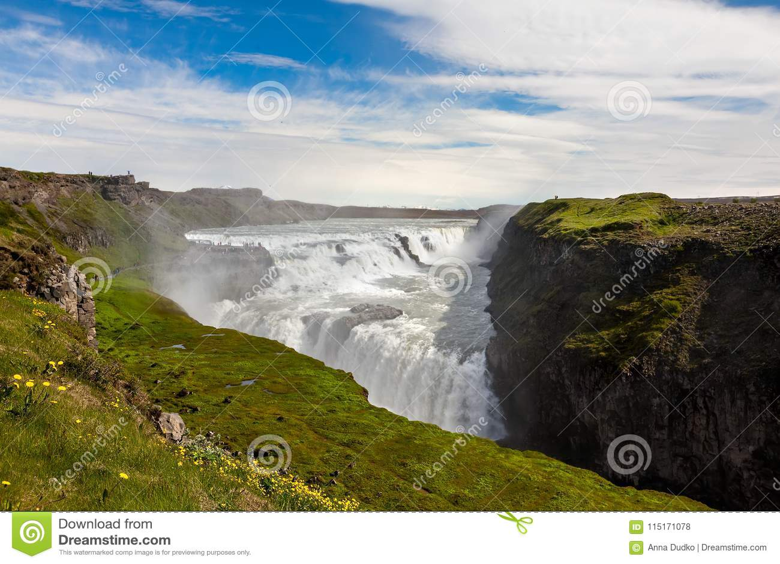 Cascada de Gullfoss en Islandia
