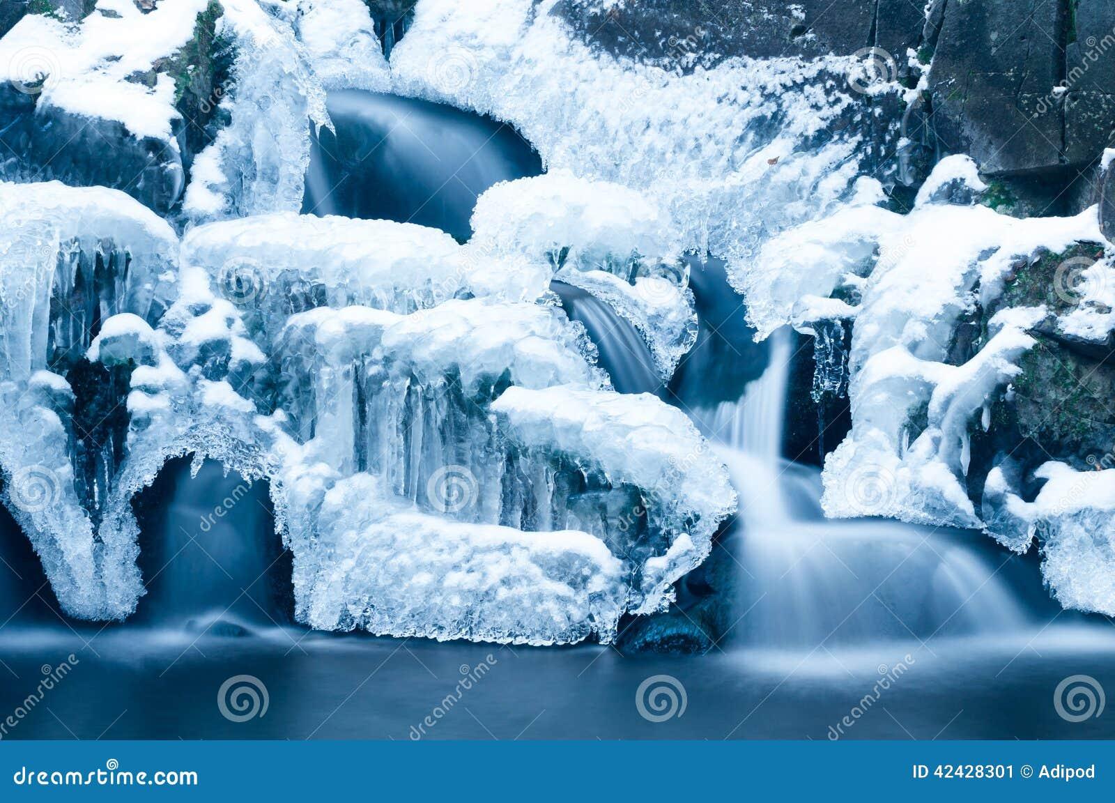 Cascada en el invierno