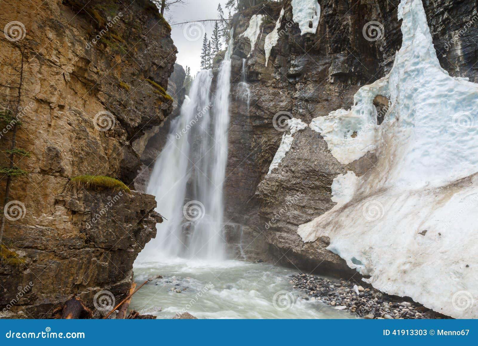 Cascada superior en Johnson Canyon Canada