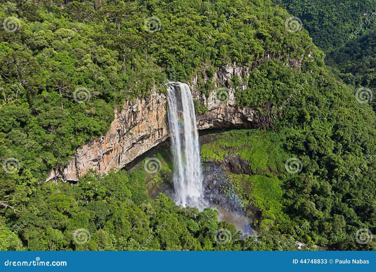 Cascade de Caracol - ville de Canela, Rio Grande faites Sul - le Brésil