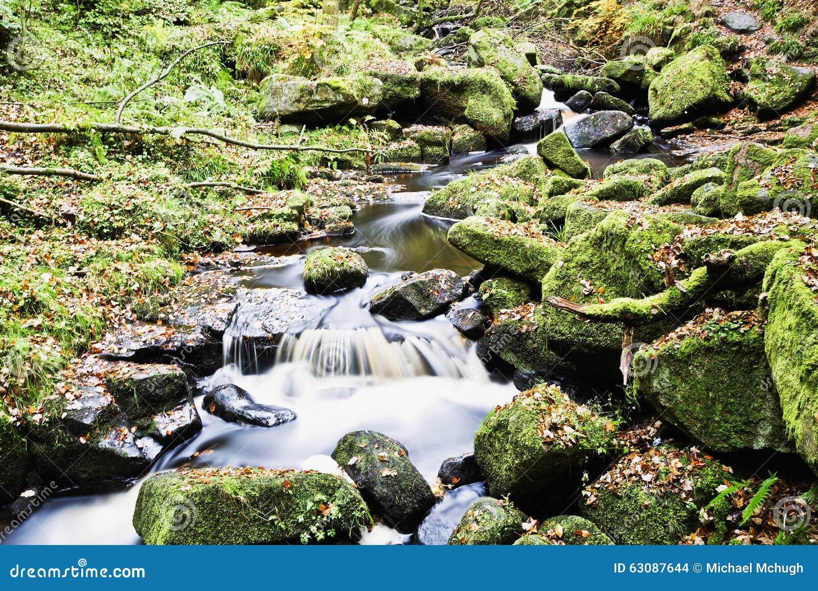 Download Cascade En Gorge De Padley, Secteur Maximal, Derbyshire LE R-U Photo stock - Image du gorge, cascade: 63087644