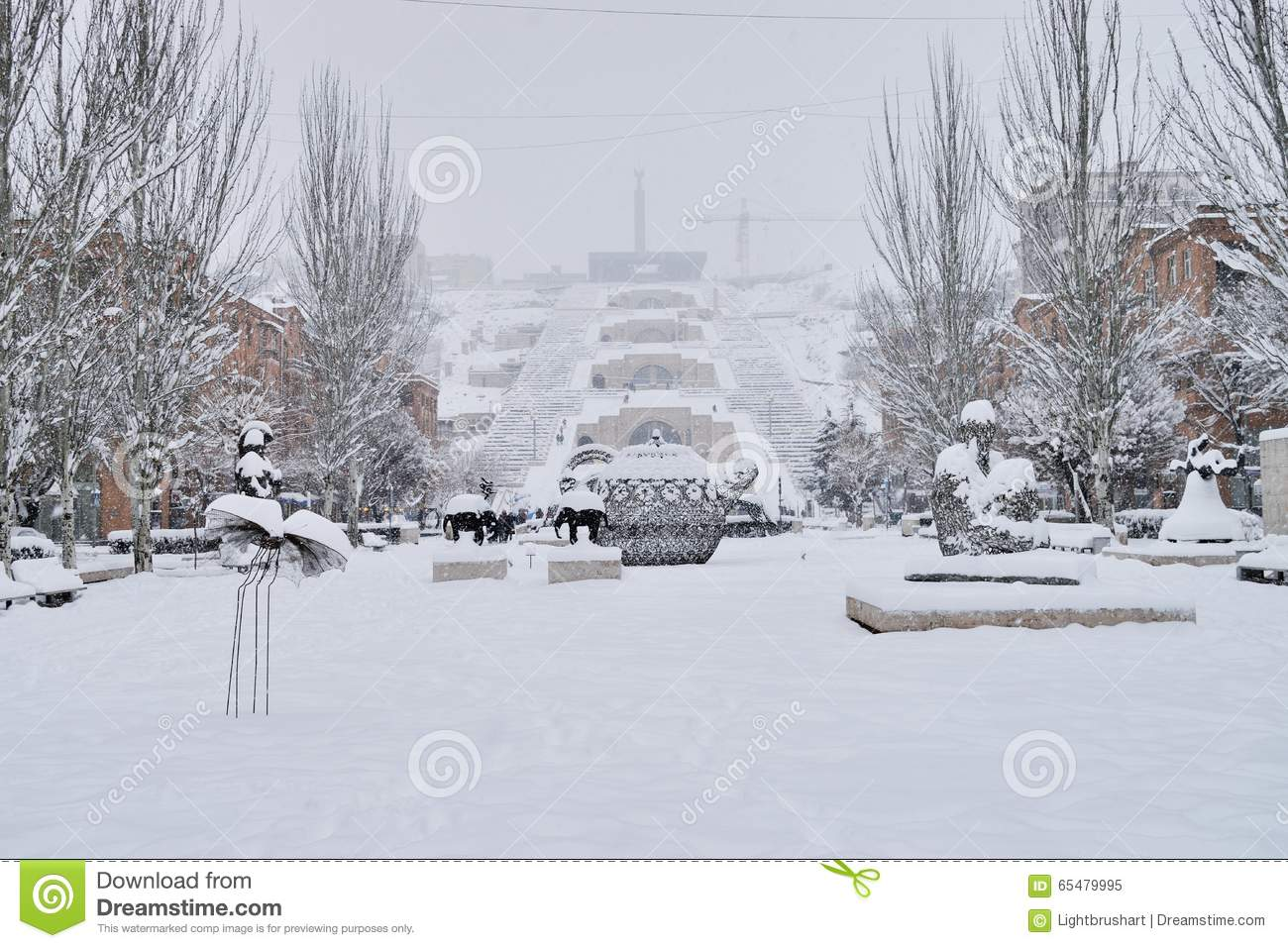 The Cascade Stairway, Yerevan, Armenia Editorial Image   Image Of Center,  Place: 65479995