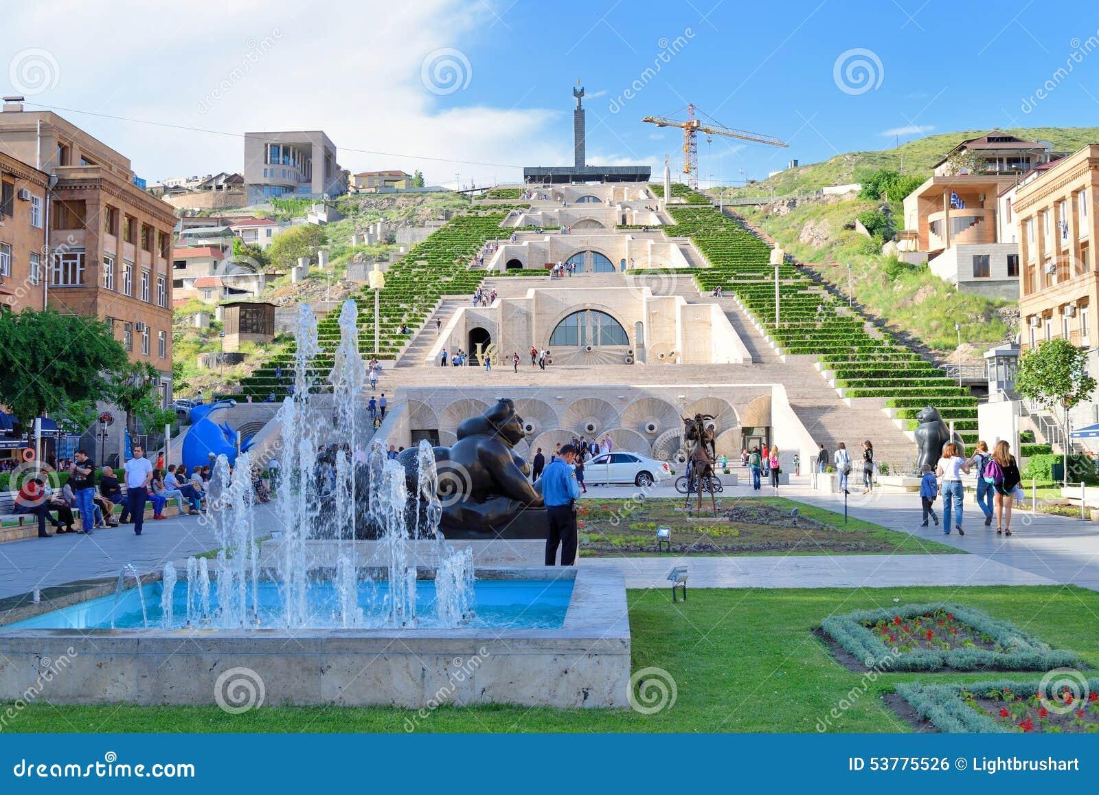 The Cascade Stairway, Yerevan, Armenia. Center, Museum.