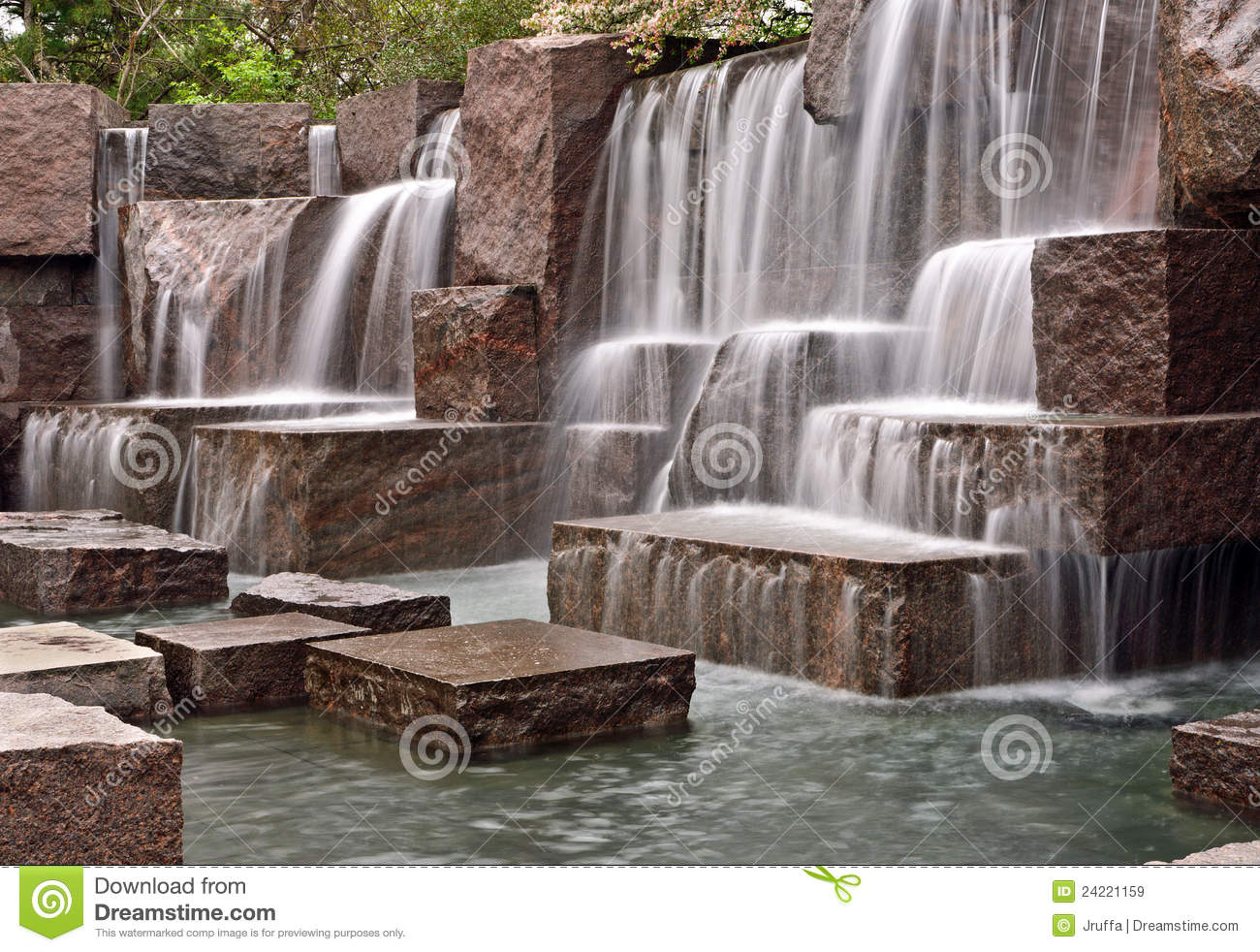 Cascading Waterfalls at FDR Memorial