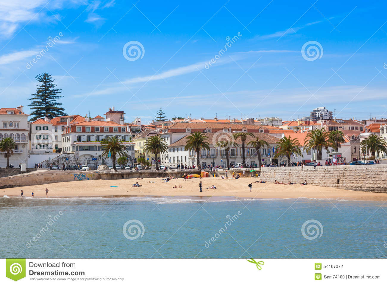 cascais strand n ra lissabon portugal arkivfoto bild. Black Bedroom Furniture Sets. Home Design Ideas