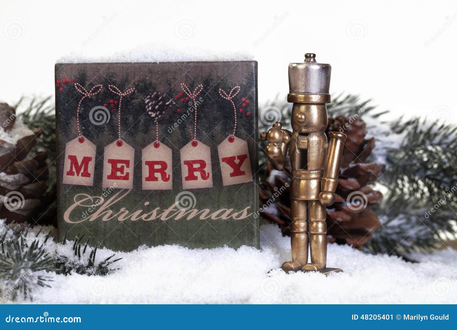 Cascanueces de bronce de la Navidad