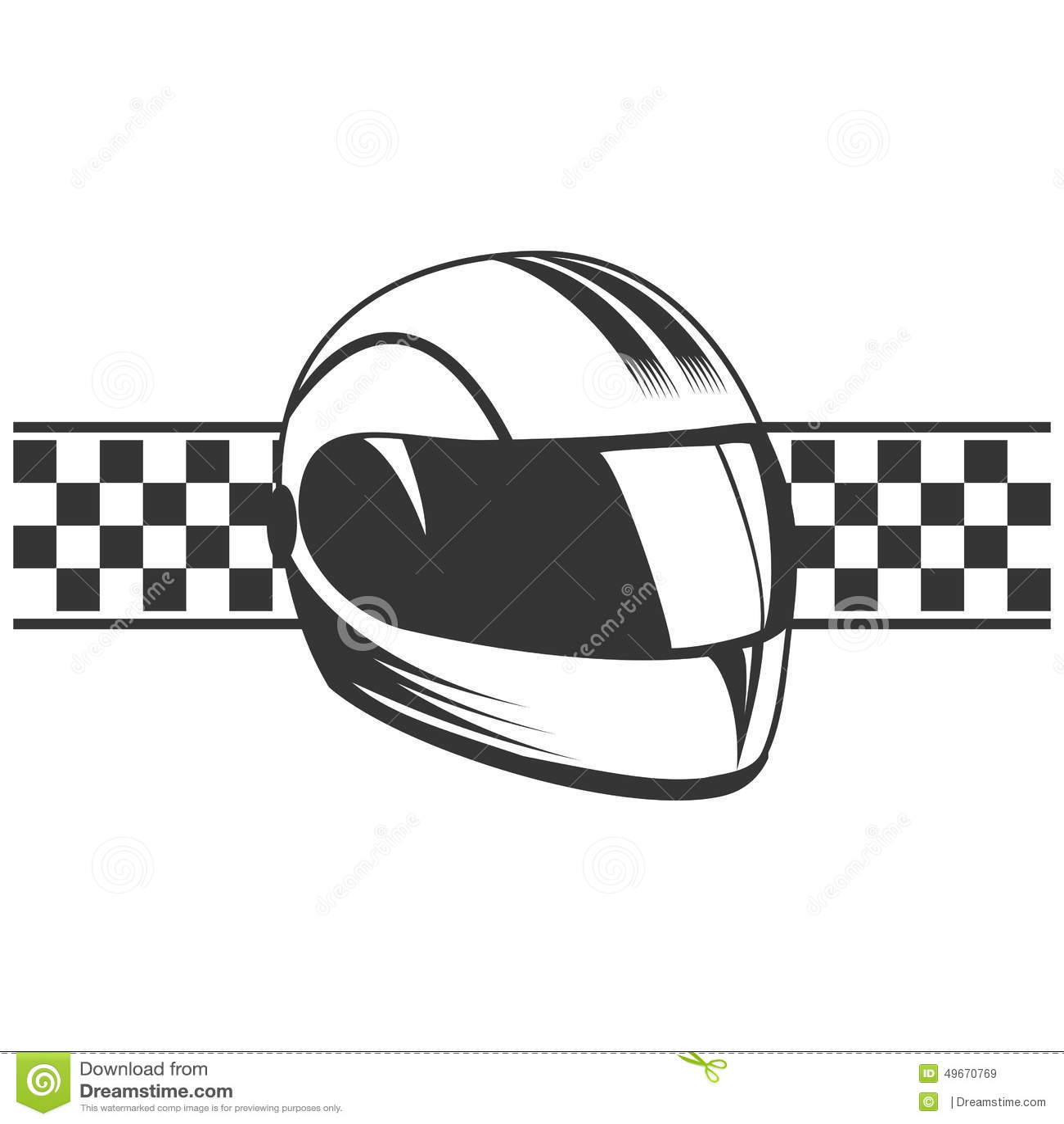 Casco de la motocicleta del vector