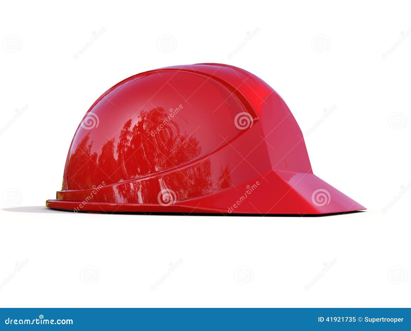 Casco de seguridad rojo