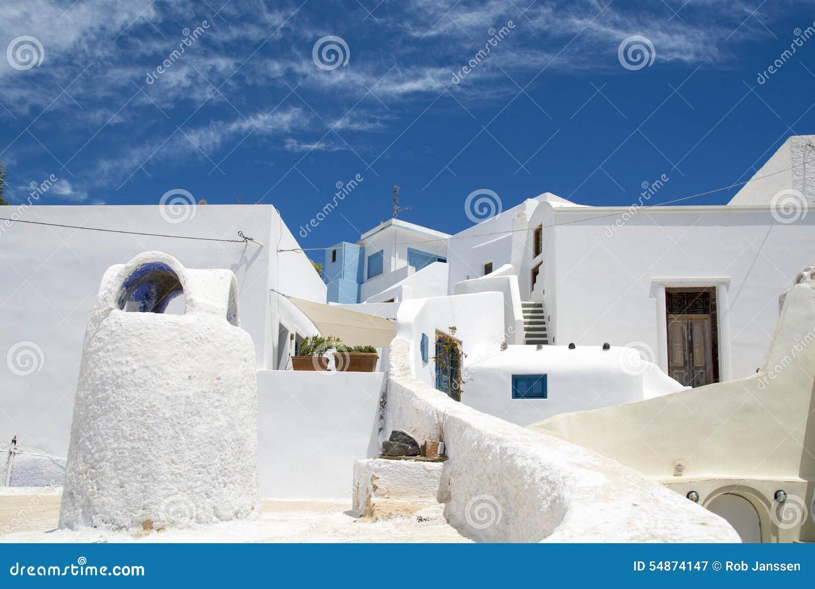 Case bianche su santorini immagine stock immagine di for Interni case bianche