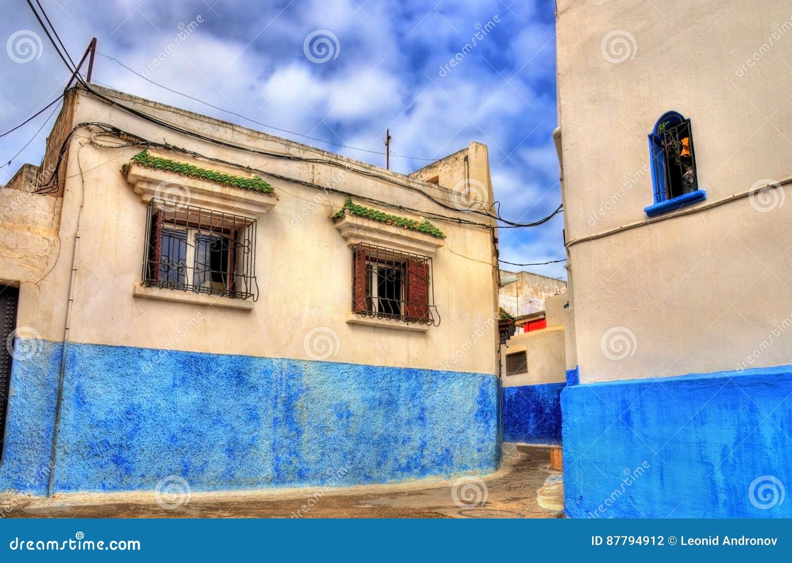 Case Blu Marocco : Case blu e bianche famose in kasbah del udayas rabat marocco