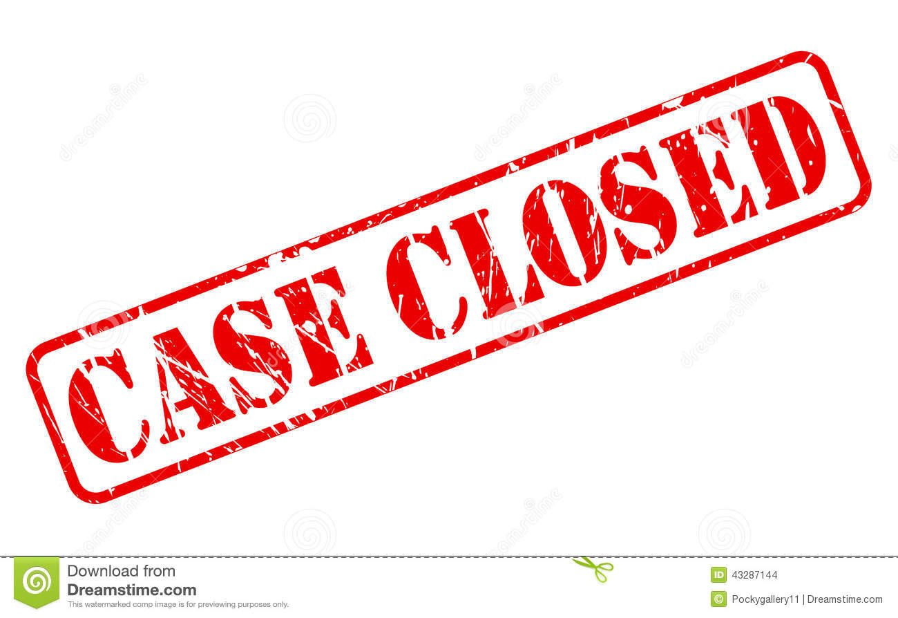 Case Closed Red Stamp Text Stock Vector - Image: 43287144