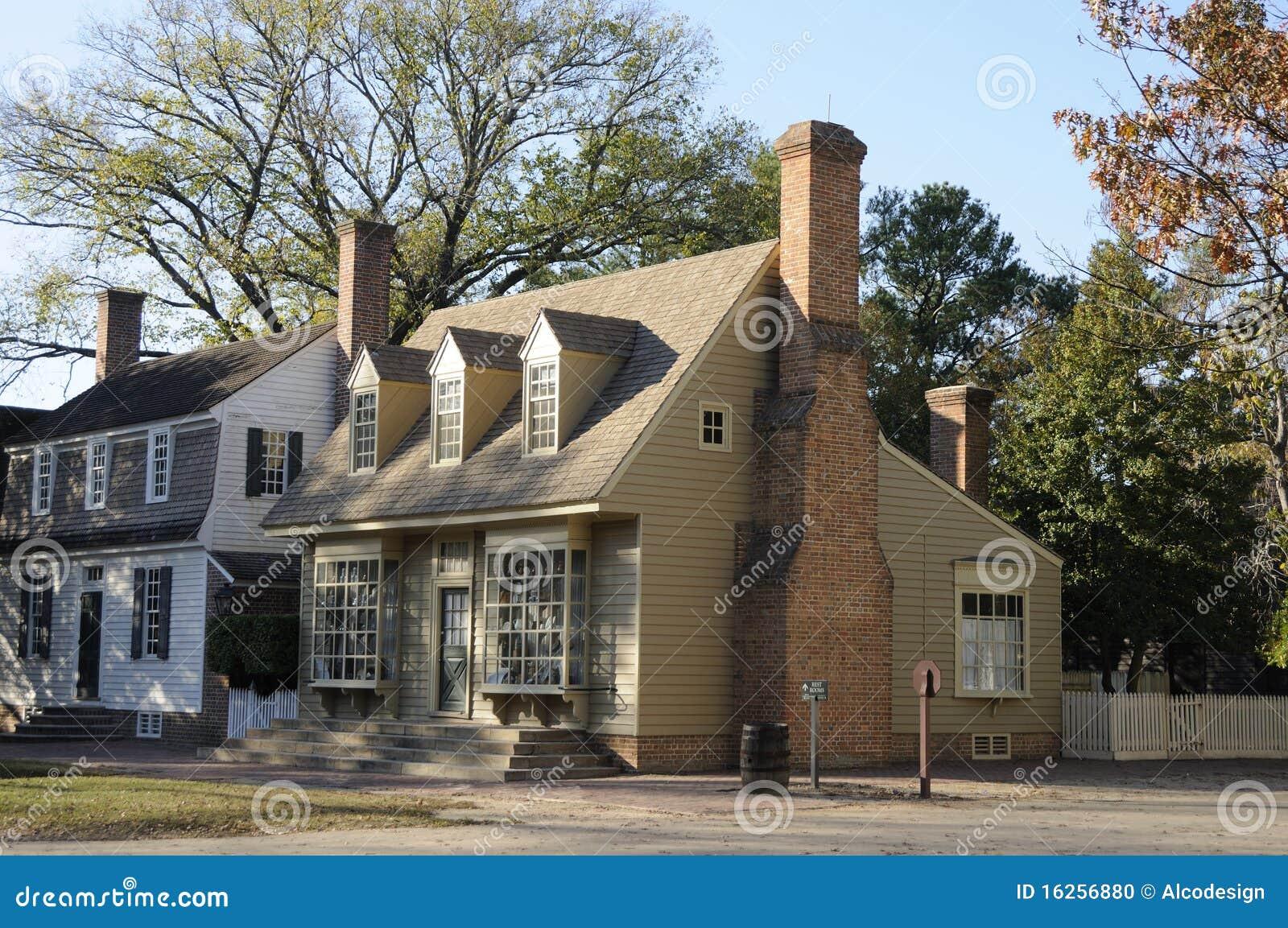 Case coloniali americane fotografia stock immagine 16256880 for Foto case americane
