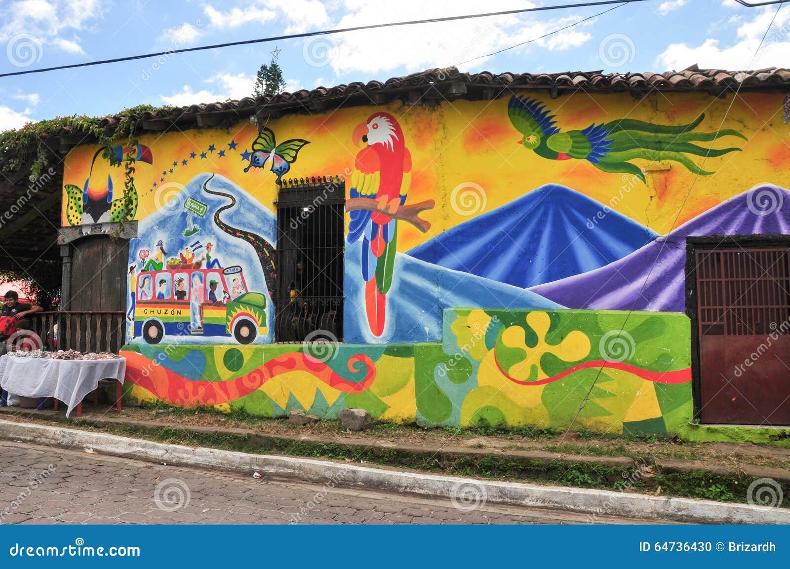 Case colorate di Alegria, El Salvador