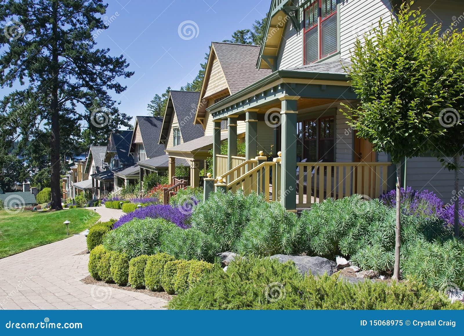 case del cottage di stile dell 39 artigiano immagine stock