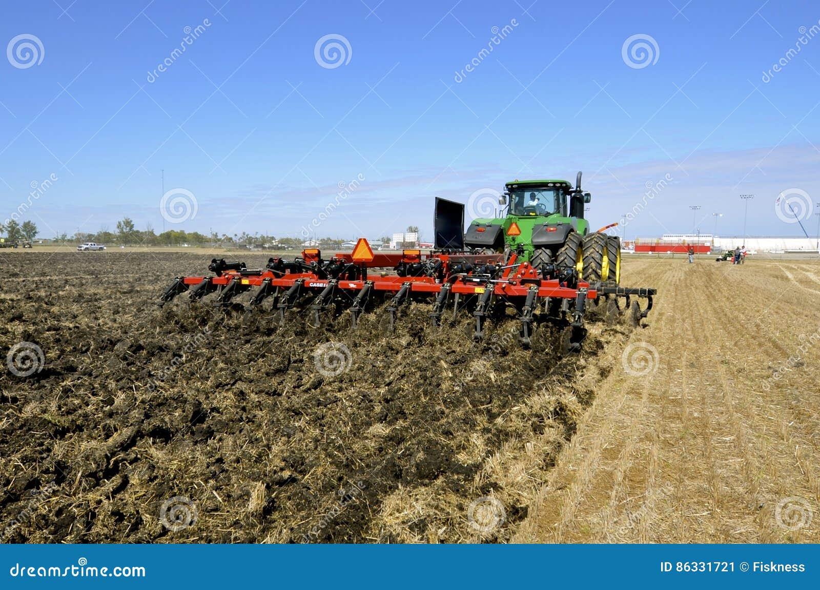 Case IH chisel plow and John Deere tractor