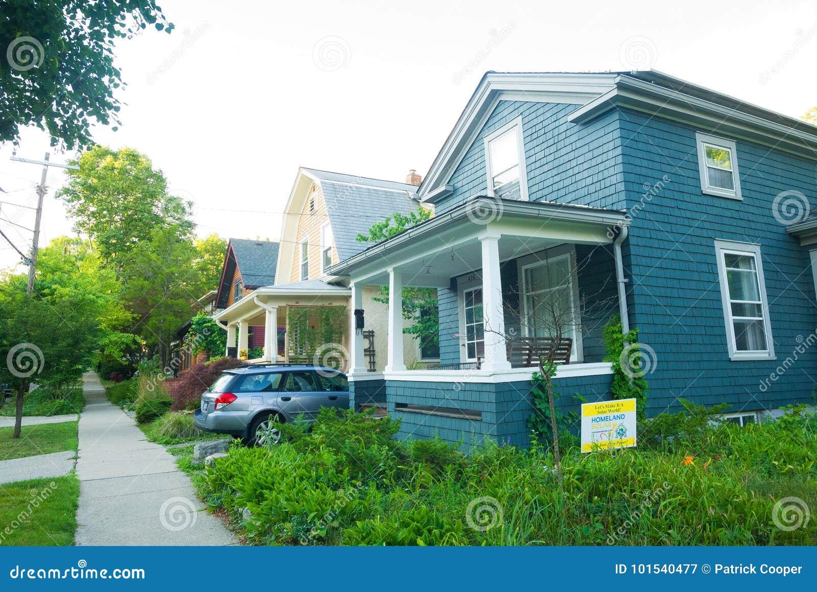Case in legno nel Michigan, Stati Uniti
