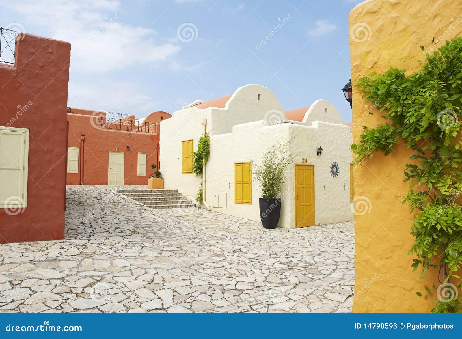 case mediterranee immagine stock immagine di front citt