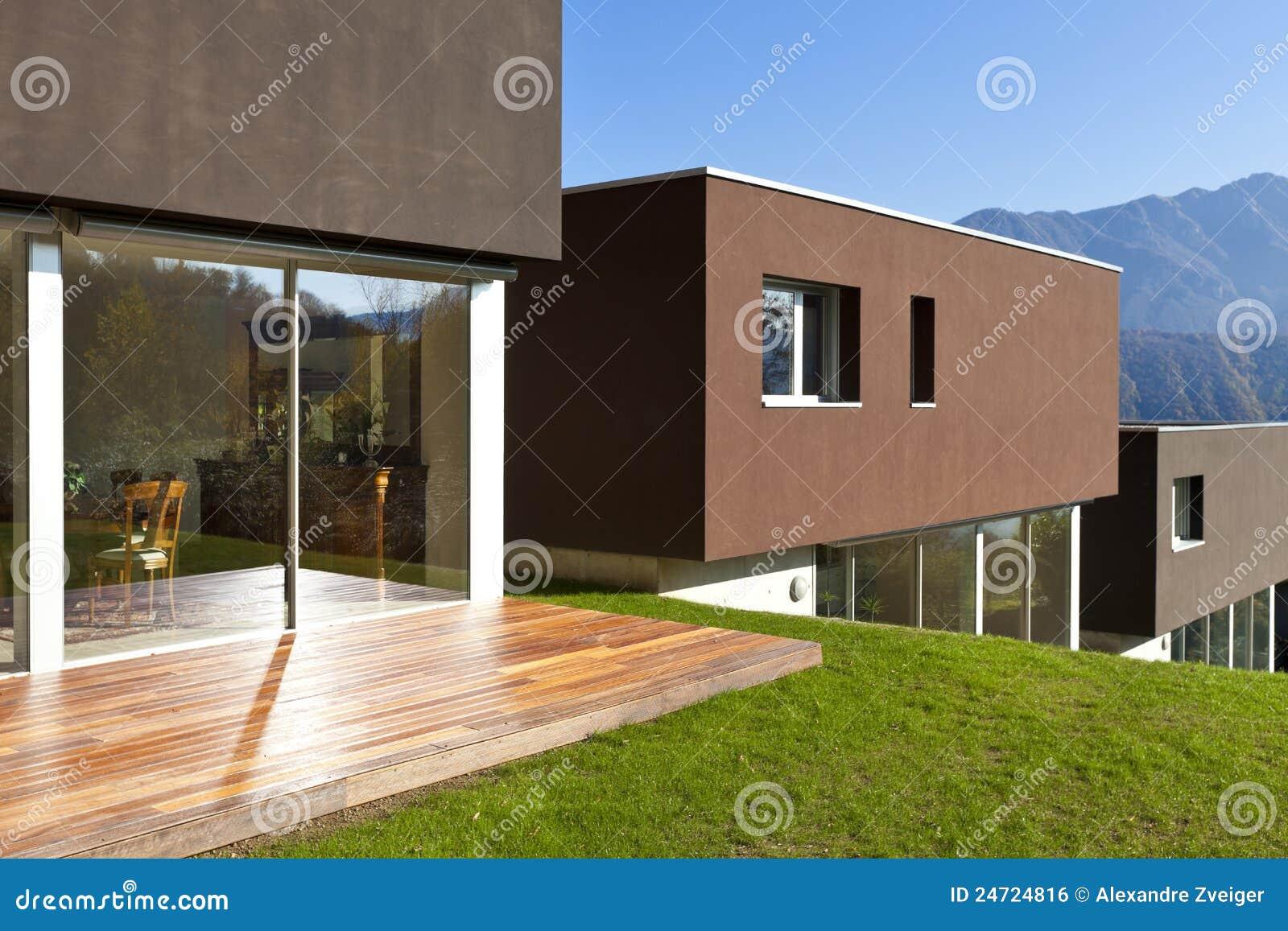 Esterni casa moderna : Case moderne immagine stock libera da diritti