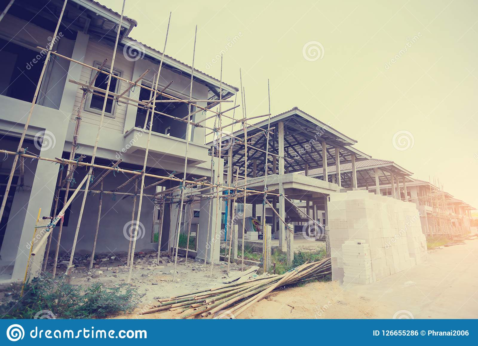 Case recentemente sviluppate in una proprietà residenziale in Tailandia