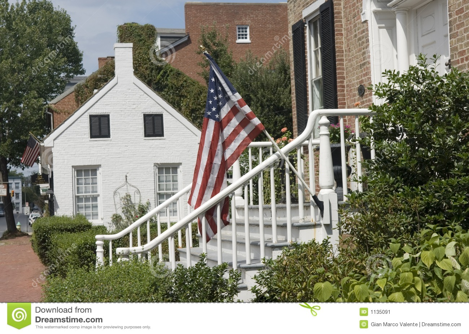 Case storiche in Frederick, Maryland.