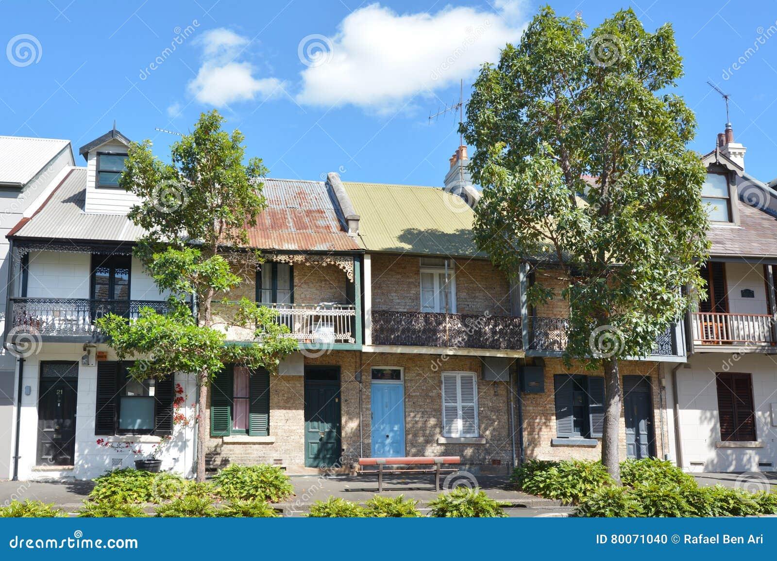 Case Tipiche Australiane : Case a terrazze vittoriane in sydney australia immagine editoriale