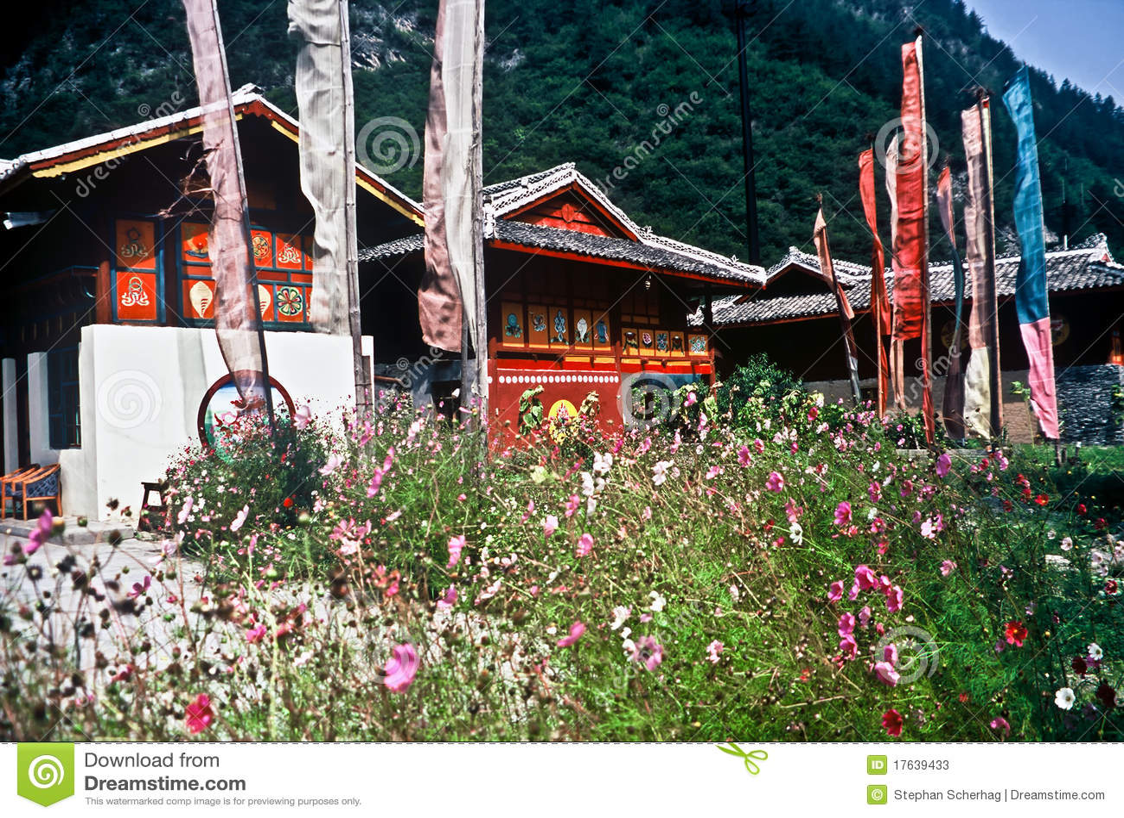 Case Tradizionali Cinesi : Case tradizionali cina immagine stock immagine di architettura