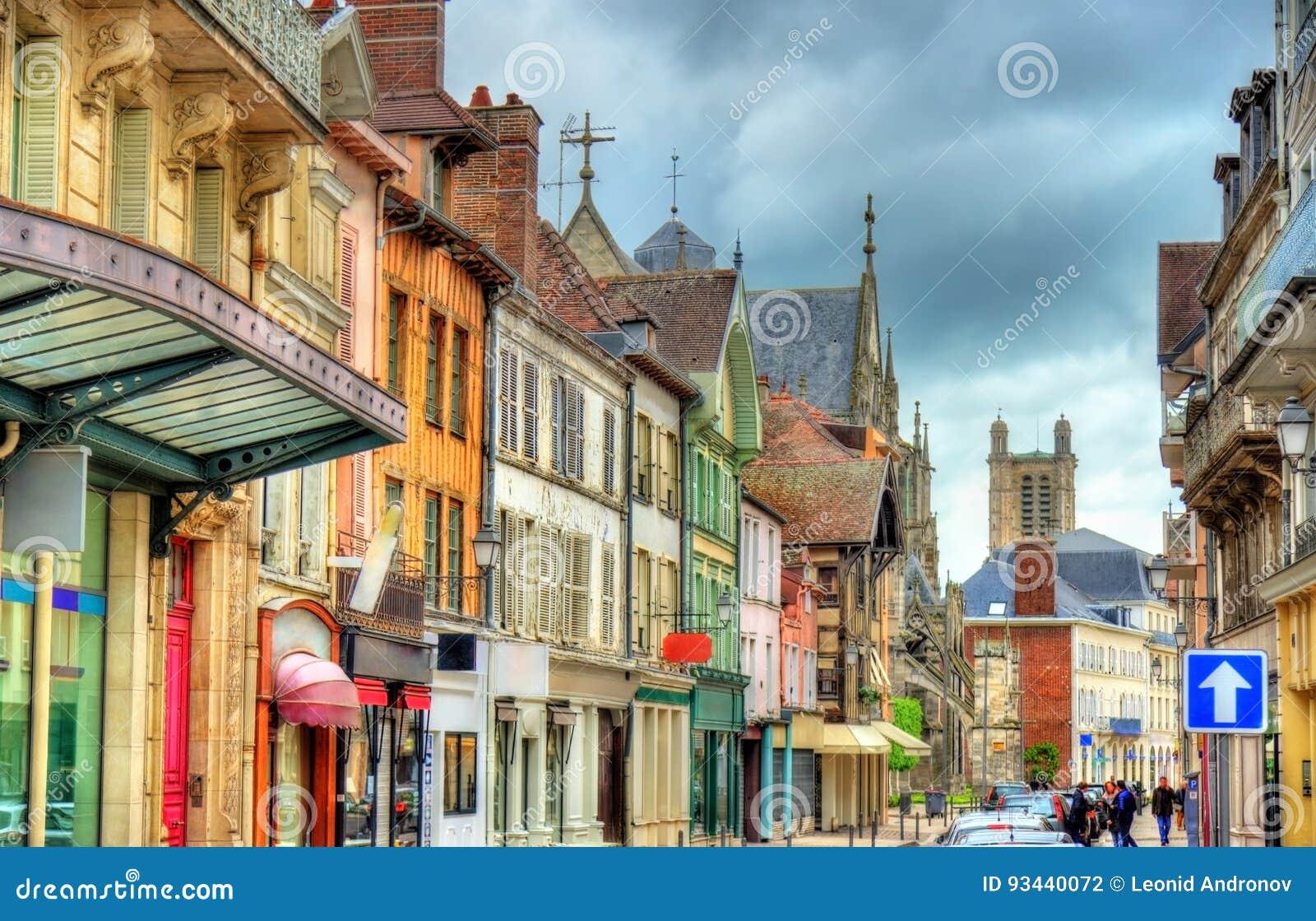 Case Tradizionali A Troyes, Francia Fotografia Stock - Immagine di ...