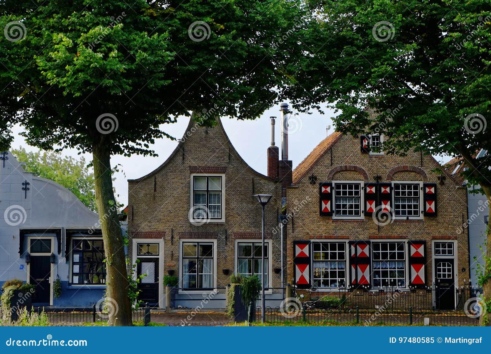 Case urbane della città olandese Zuidland