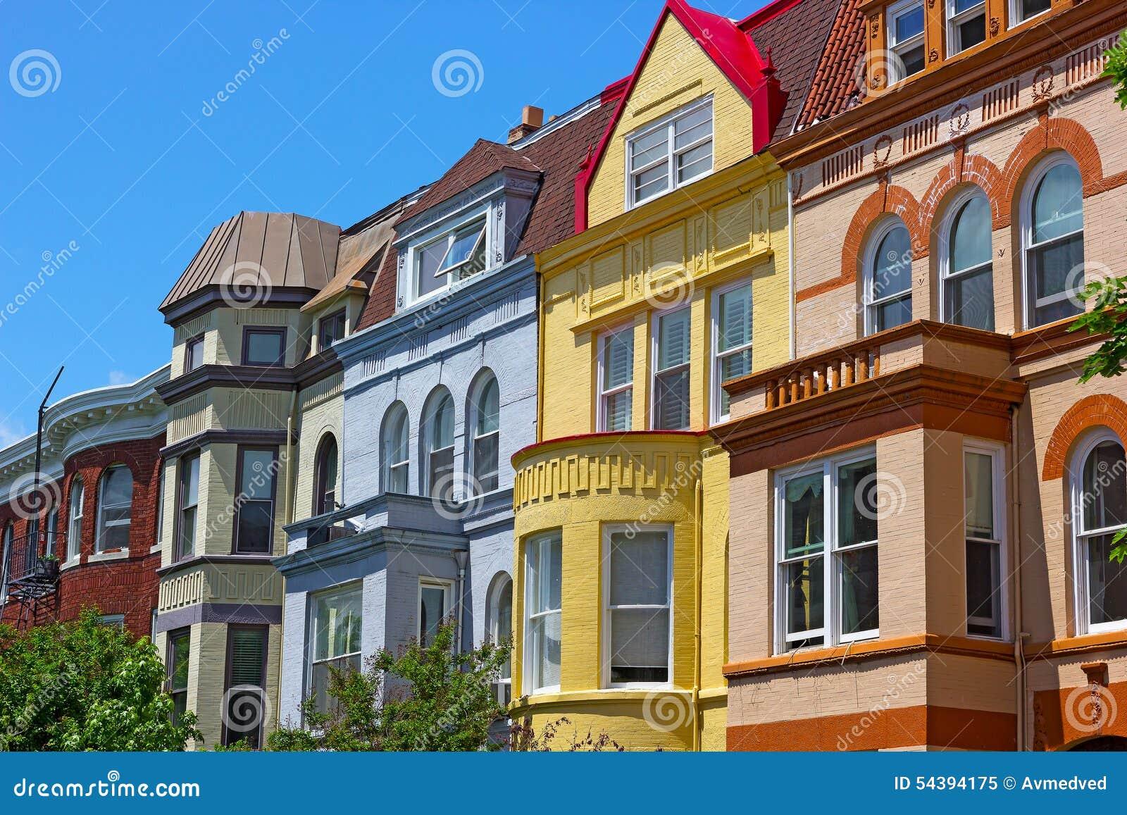 Case urbane di lusso del washington dc u s a immagine for Planimetrie urbane di case a schiera