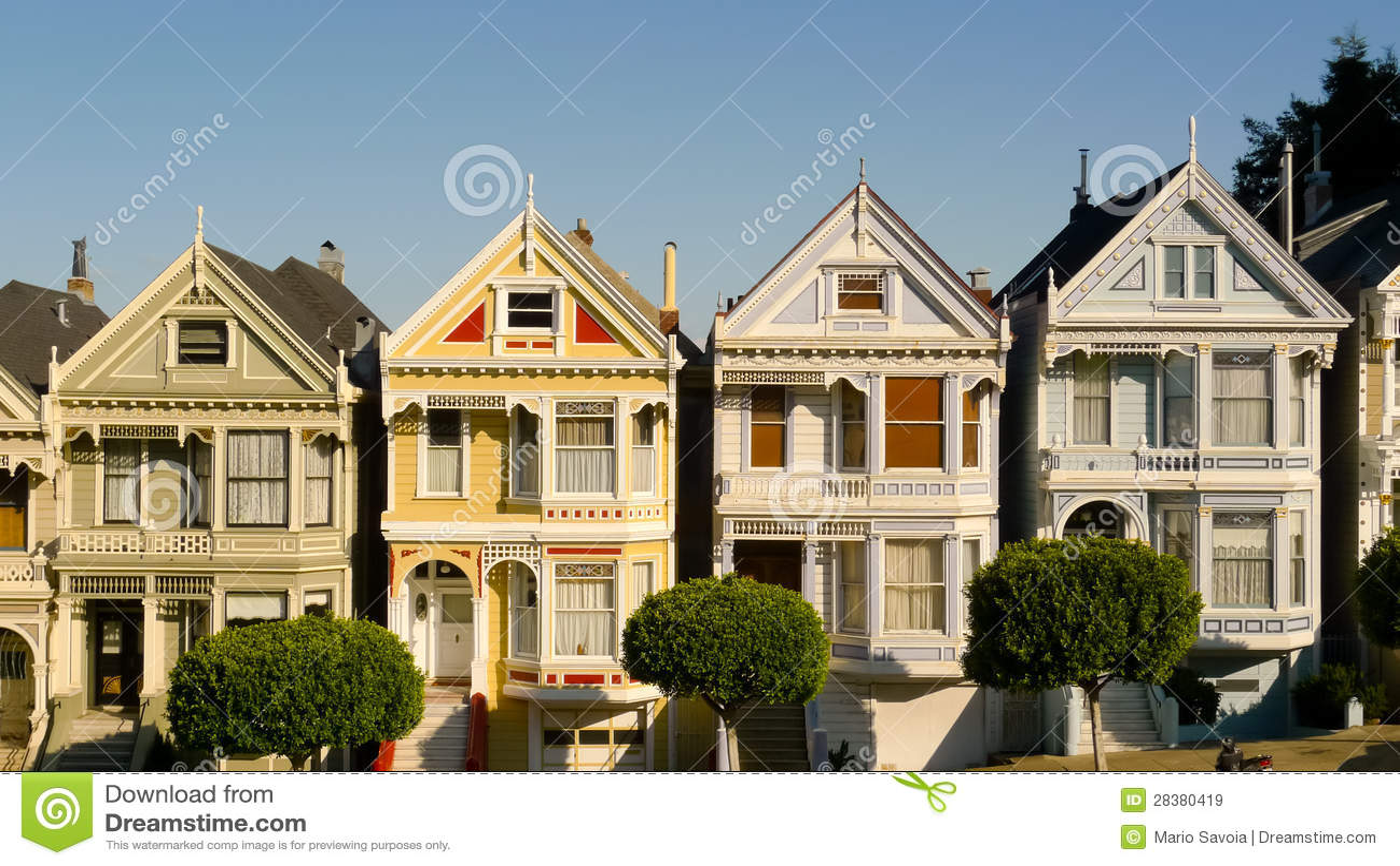 Case vittoriane nel quadrato di alamo immagini stock for Nuove case vittoriane