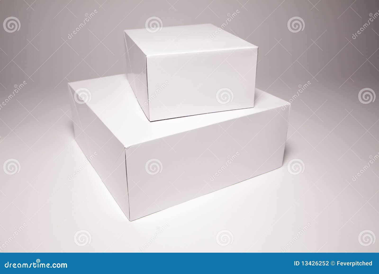 Casella bianca in bianco su Grey