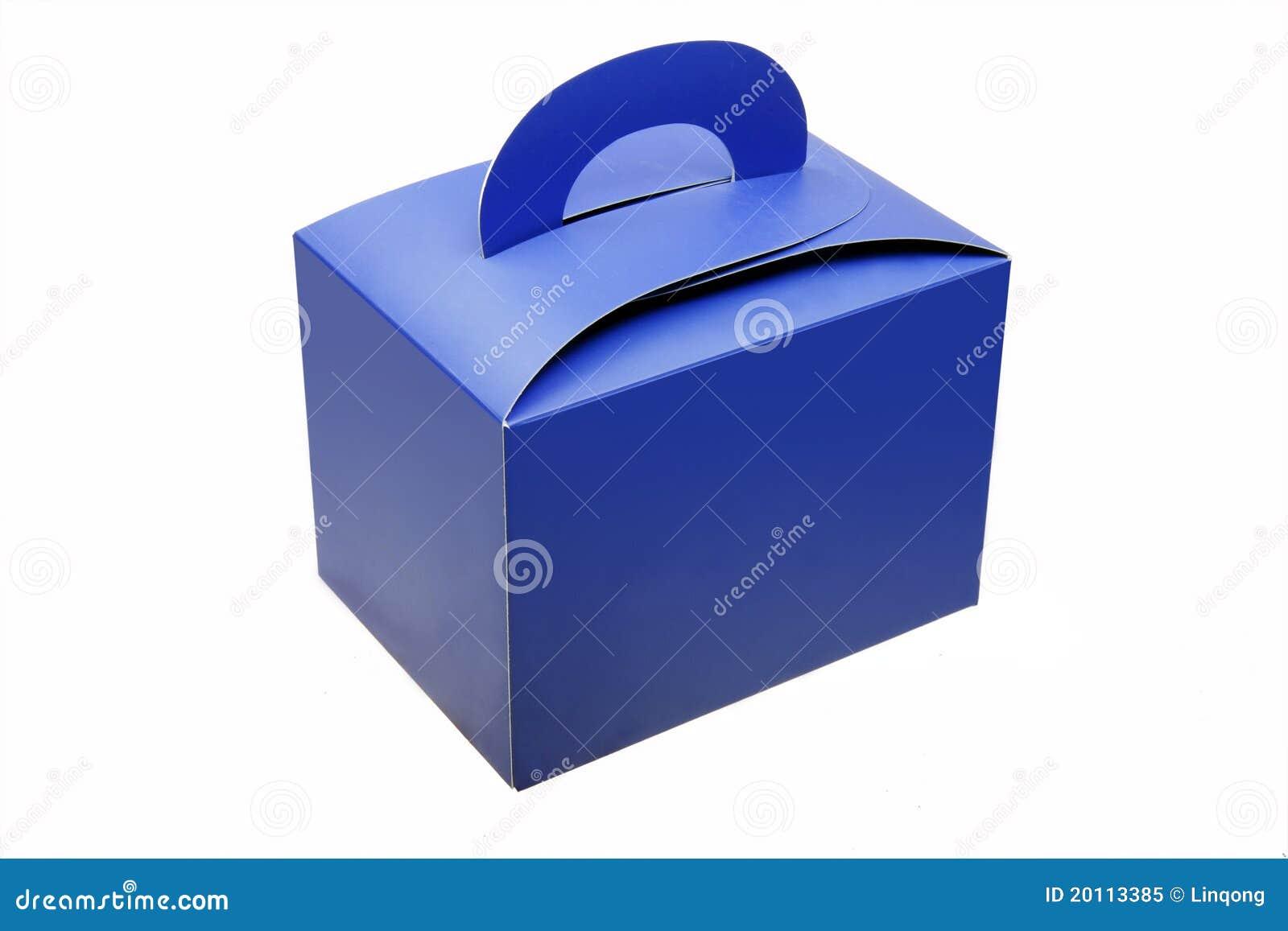 Casella di carta blu