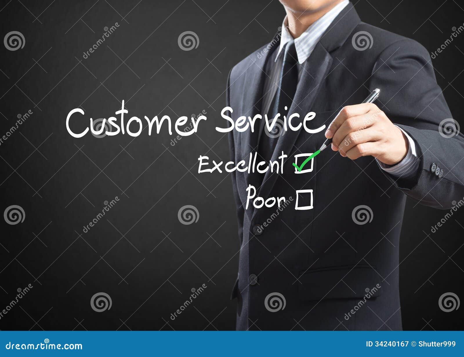 Casella di controllo eccellente su servizio di assistenza al cliente