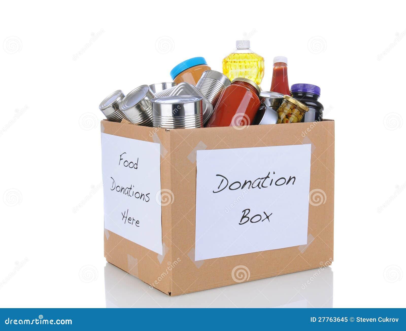 Casella di donazione dell alimento