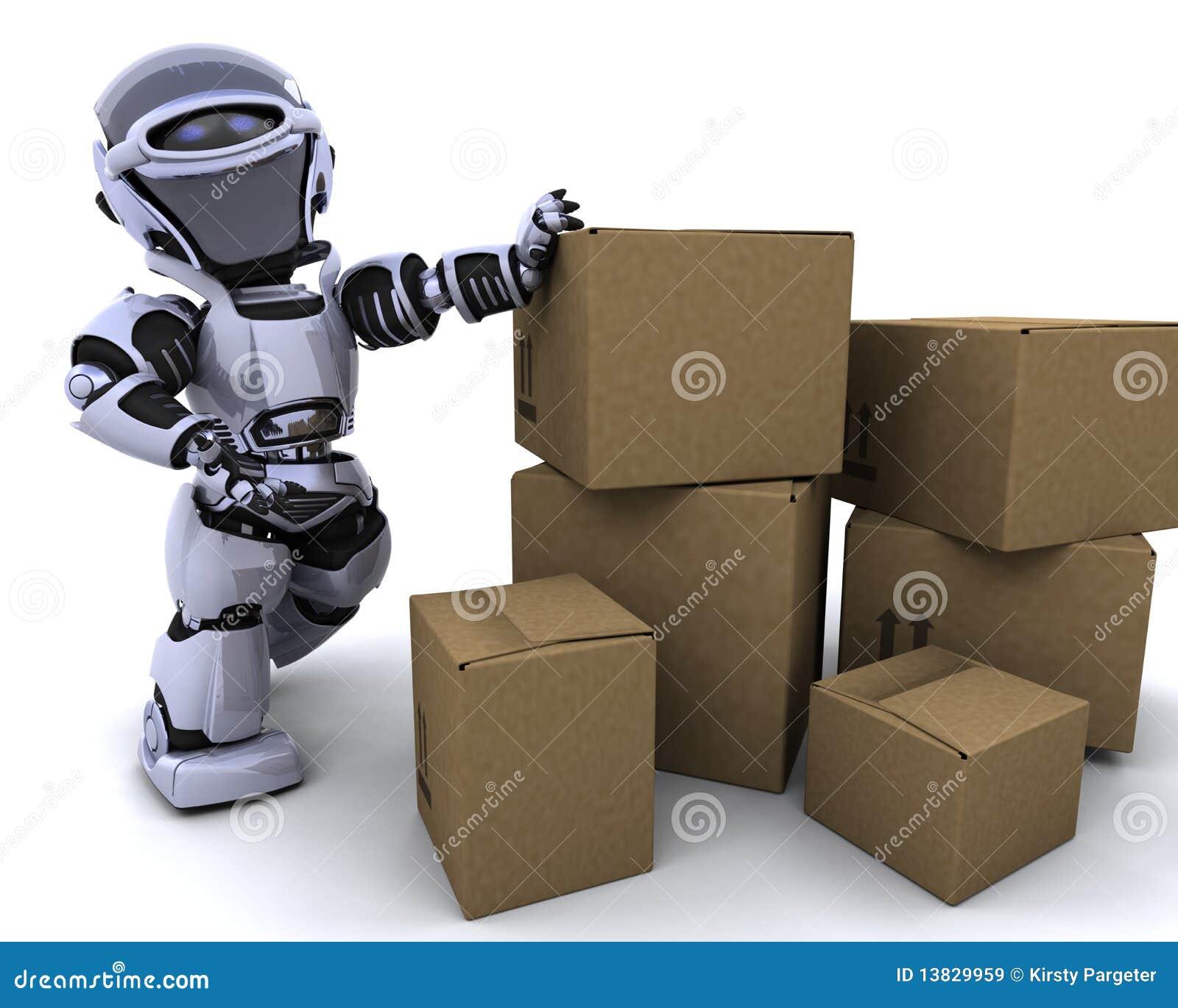 Caselle di trasporto commoventi del robot