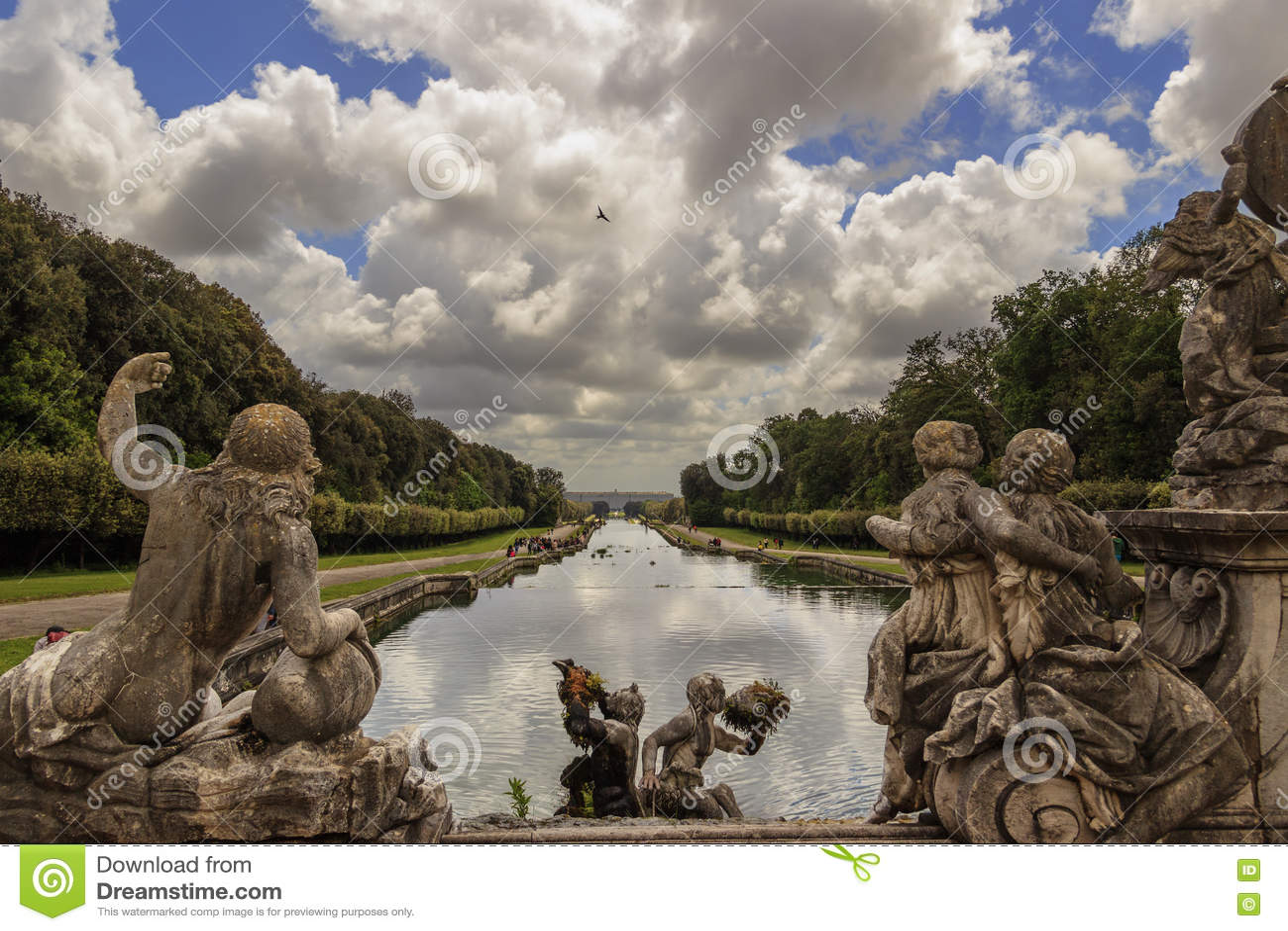 Caserta Palace Royal Garden,Italy (Campania).