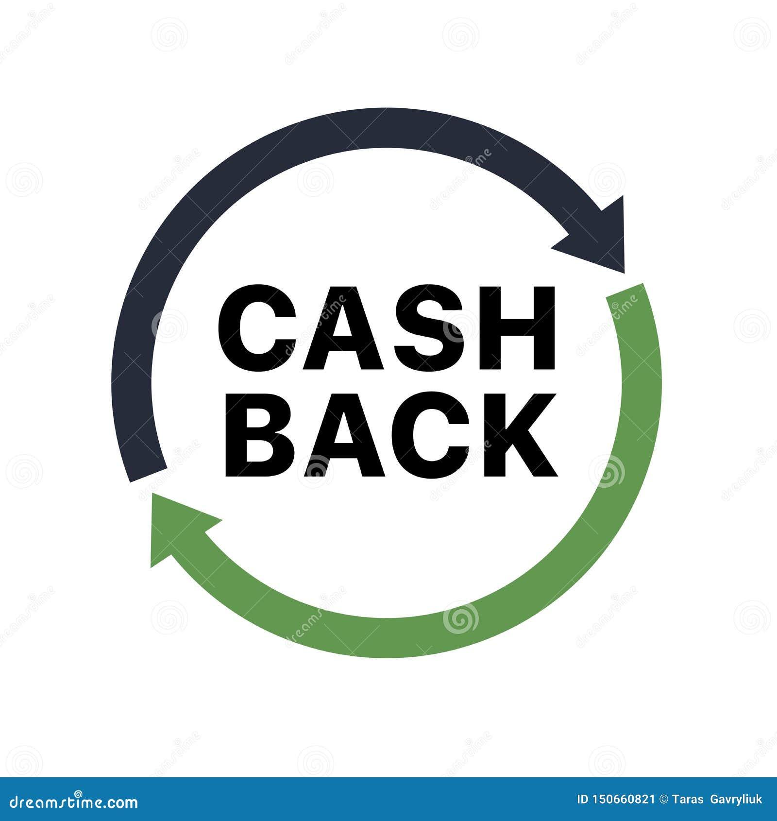 cash back icon stock vector illustration of offer design 150660821 https www dreamstime com cash back icon return investment symbol money concept cashback sign design round dark blue green arrows flat image150660821