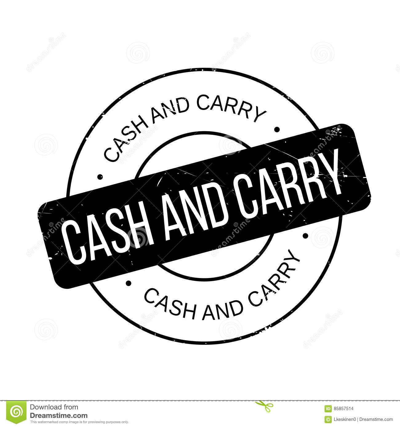 Cash And Carry Rubber Stamp Stock Illustration - Image ...