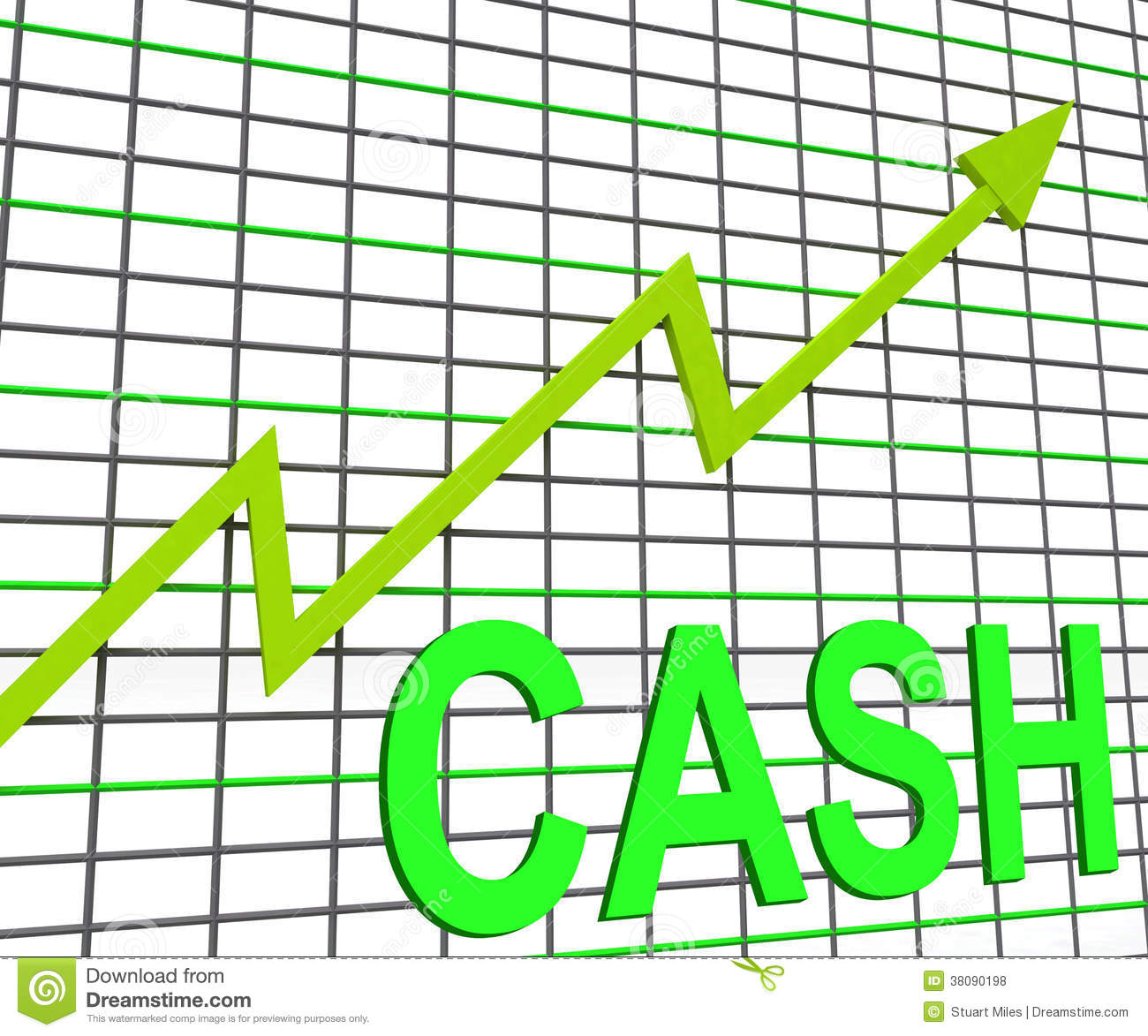 Cash chart graph shows increase wealth illustration 38090198 cash chart graph shows increase wealth nvjuhfo Images
