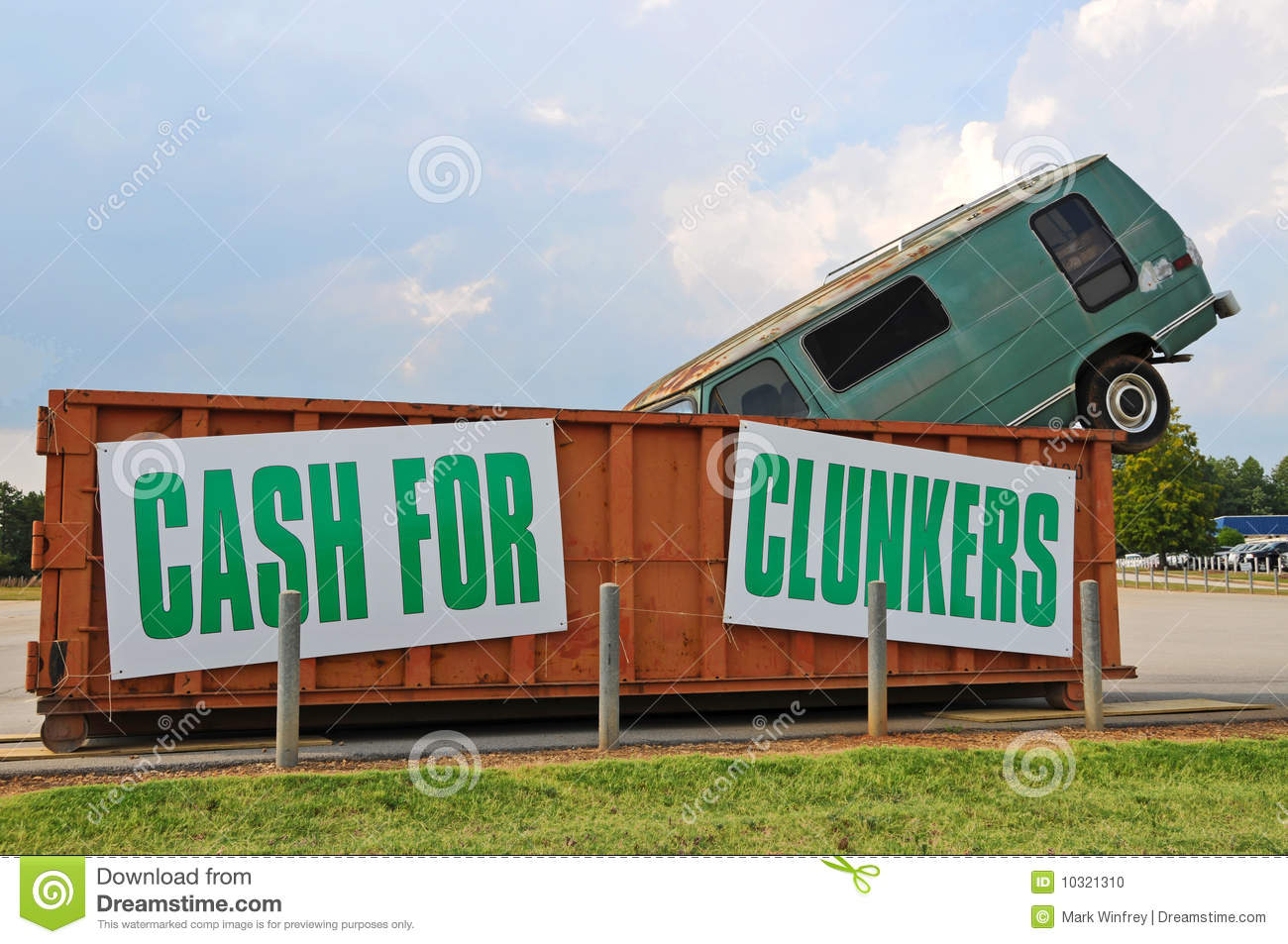 Cash For Clunkers >> Cash For Clunkers Stock Photo Image Of Recycle Trade