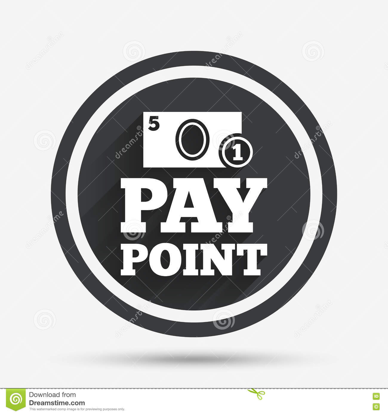 Cash And Coin Sign Icon  Pay Point Symbol  Stock Vector