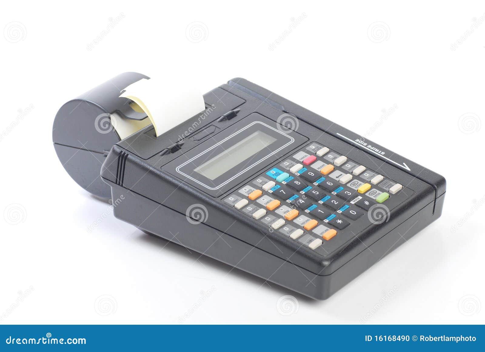 Cash On Credit Card Machine Stock Photo - Image: 16168490