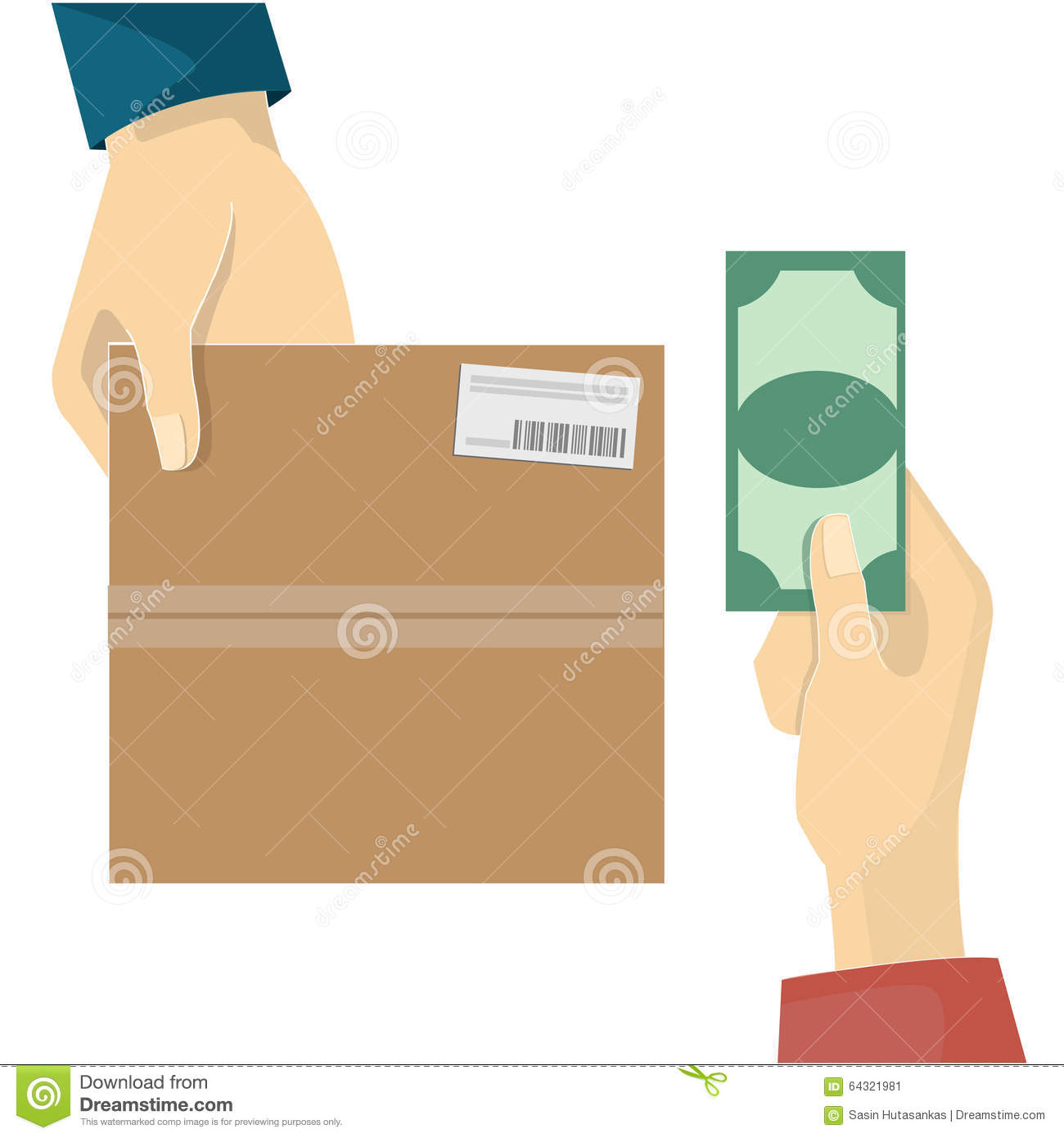 17c2d713f94 Cash on delivery service stock vector. Illustration of service ...