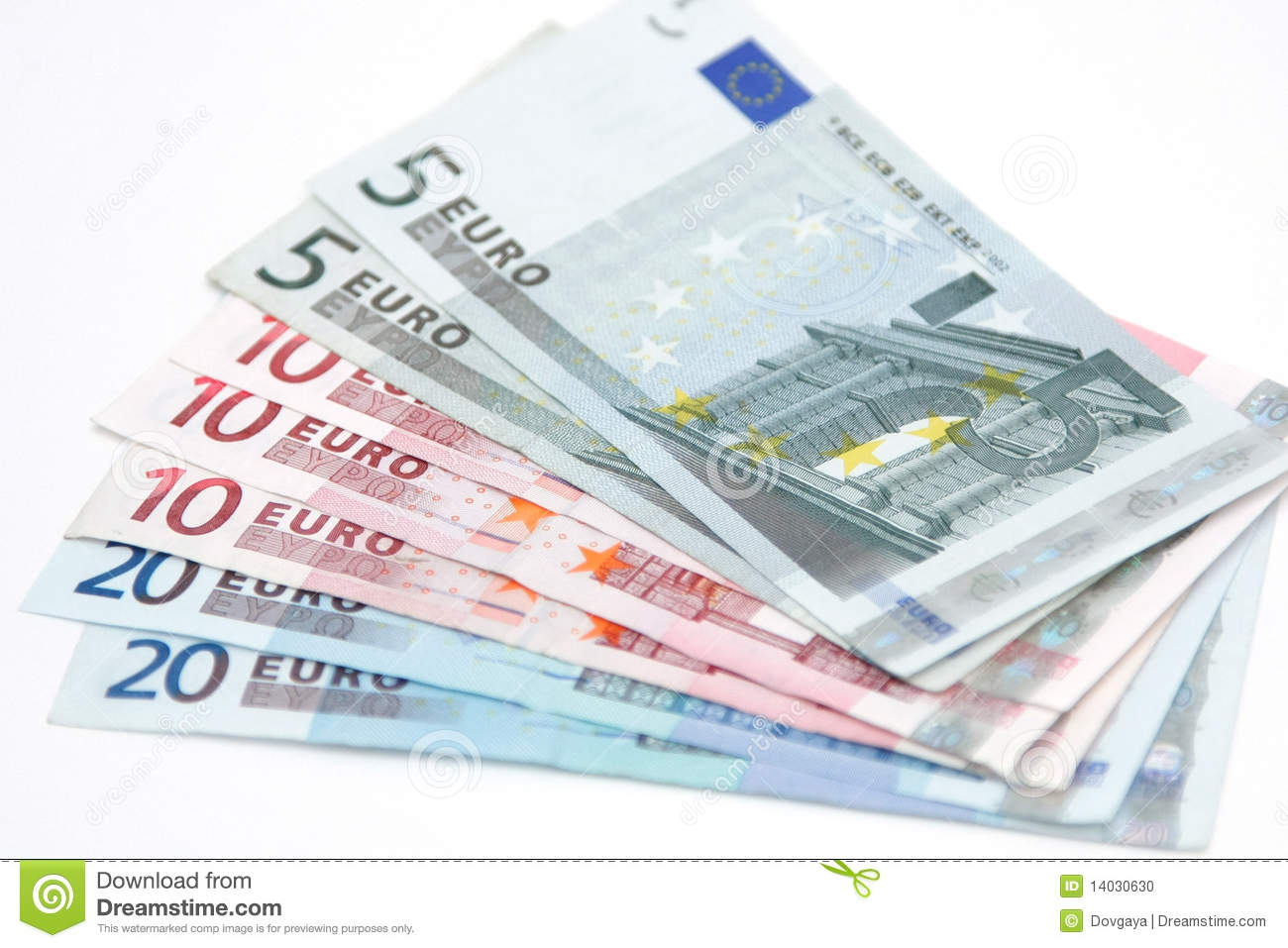 Cash Euro Stock Photo - Image: 14030630