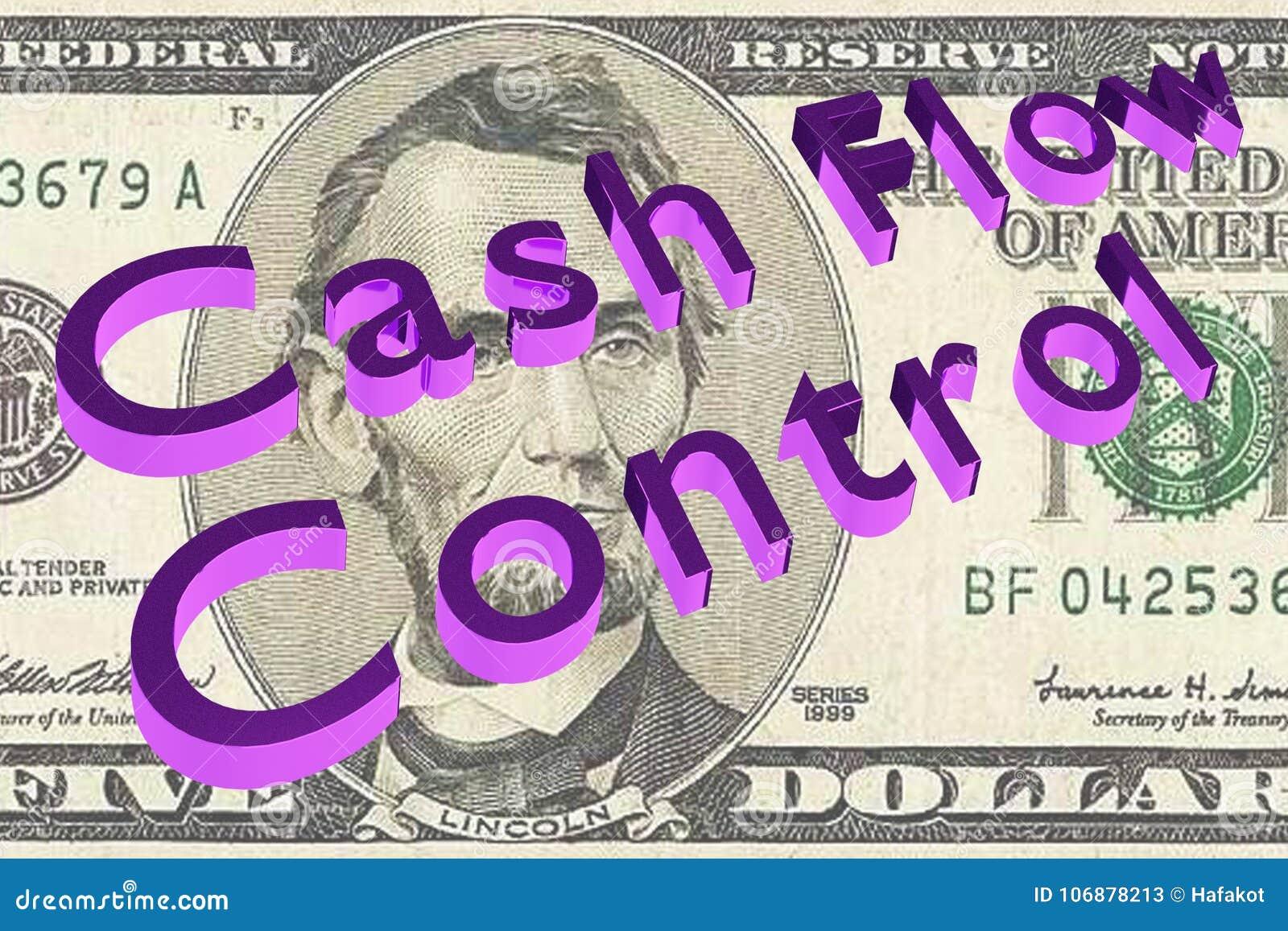 Cash flowcontrole - financieel concept
