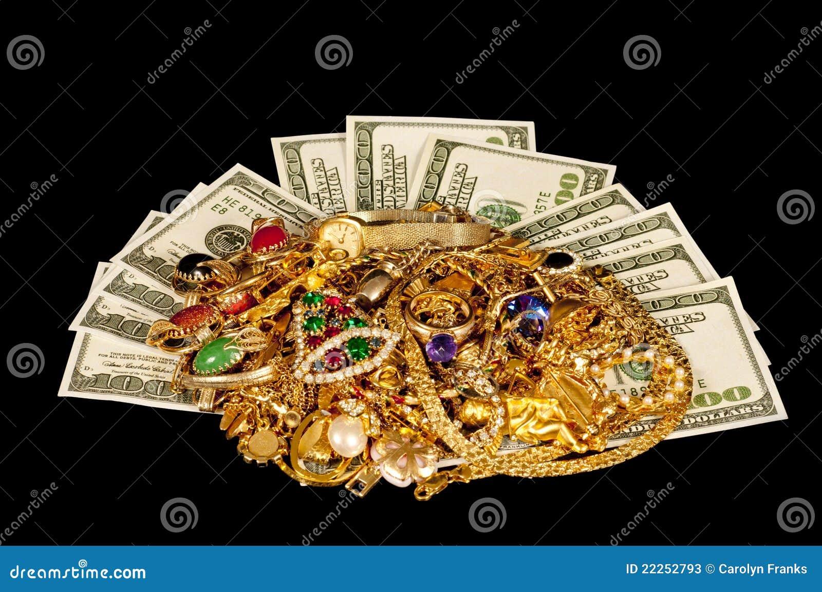 Money And Jewelry Stock Photos Image 22252793