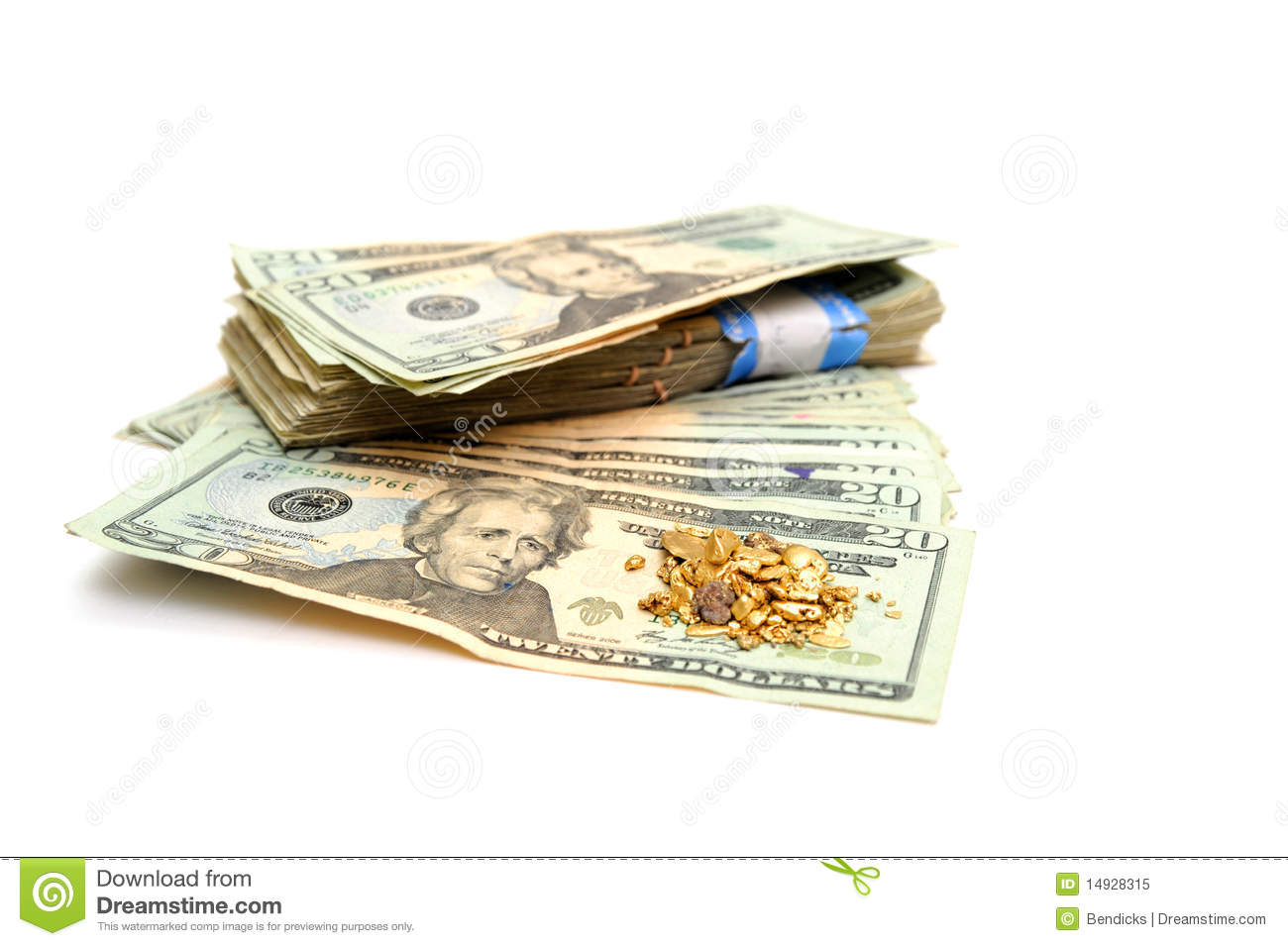 Cash And Gold Nugget