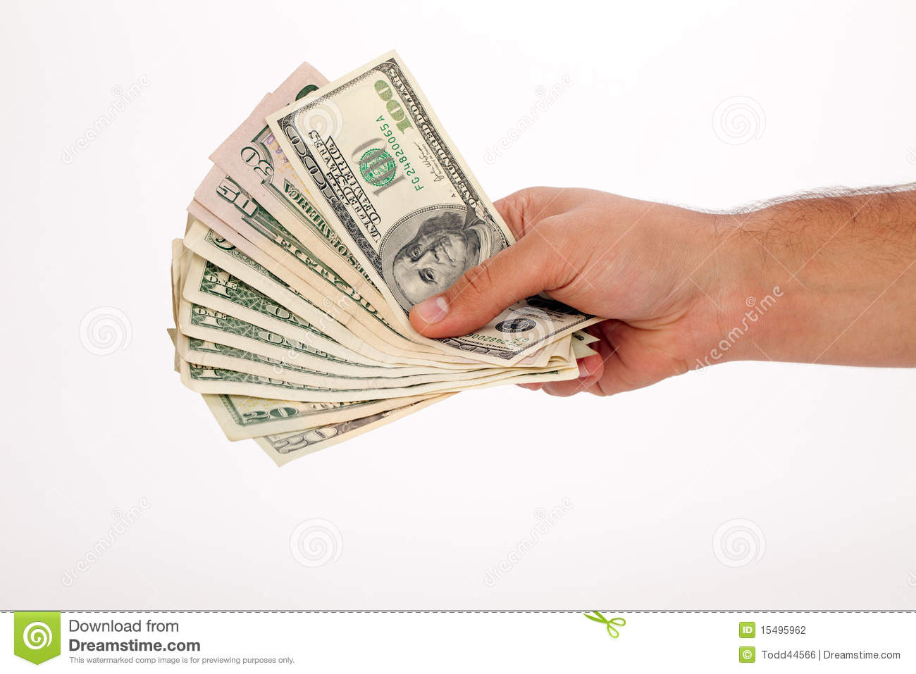 cash in hand stock photo image of currency money debt 15495962