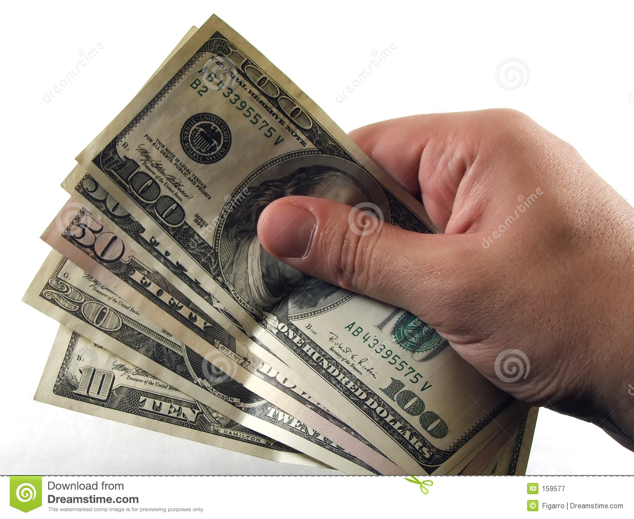 Cash In Hand Royalty Free Stock Photography Image 159577